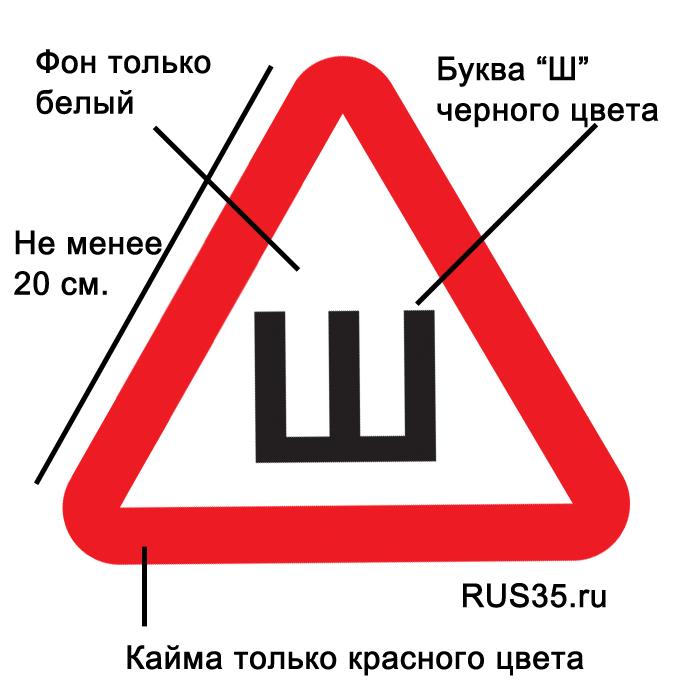 Каким должен быть знак шипы