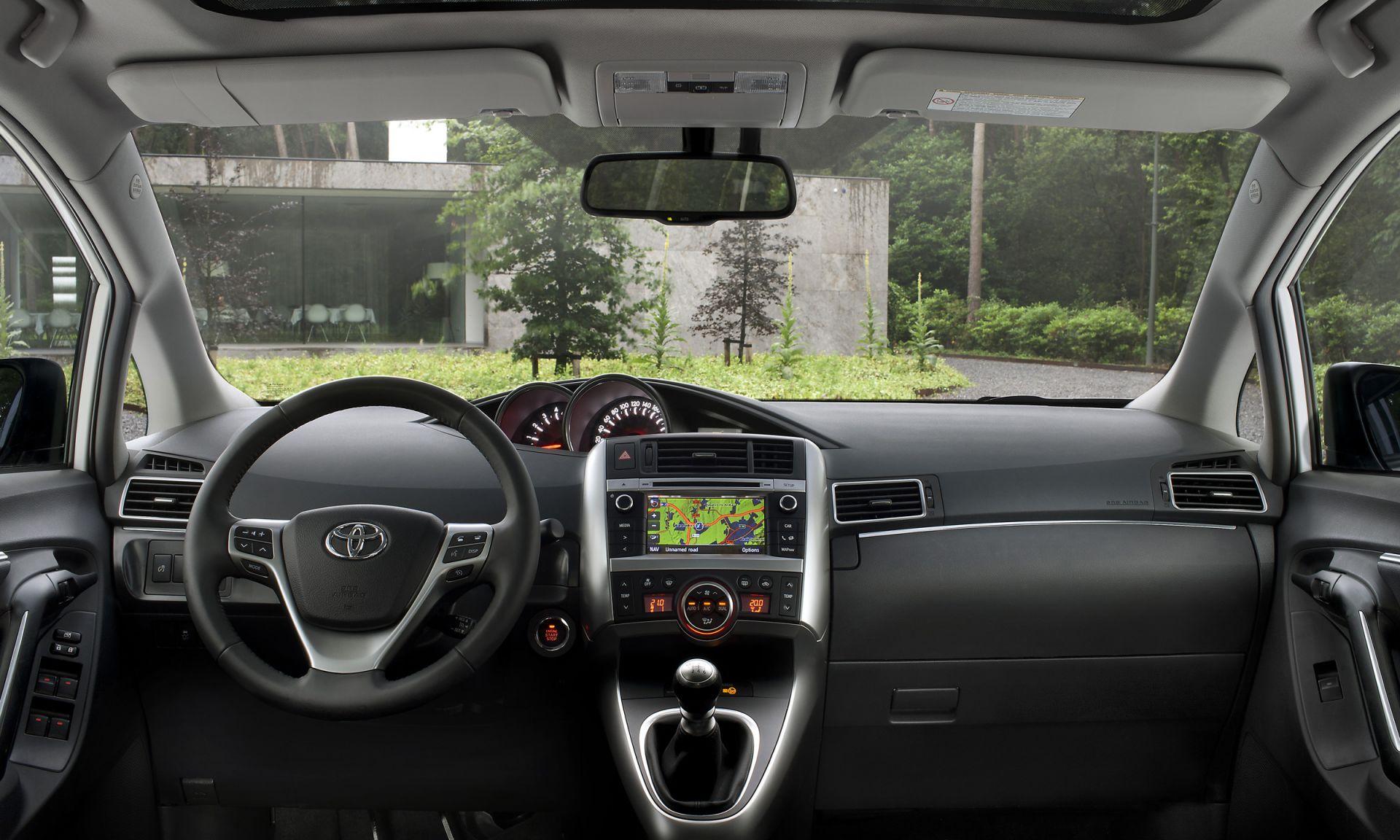 Toyota Verso - панель приборов фото 2021