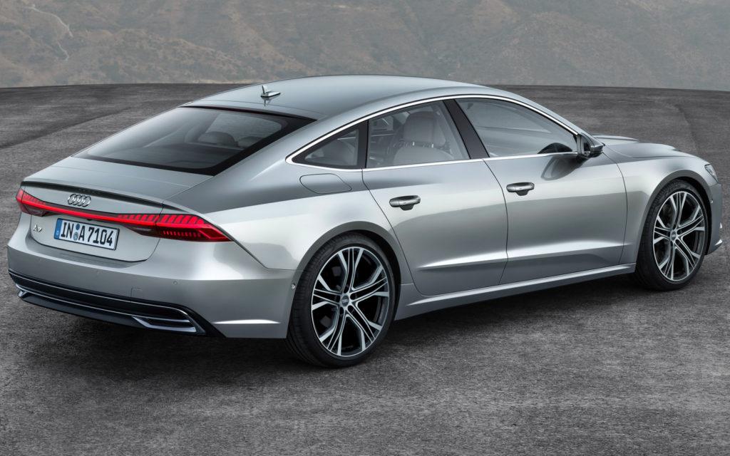 вид сзади Audi A7 Sportback 2021 фото