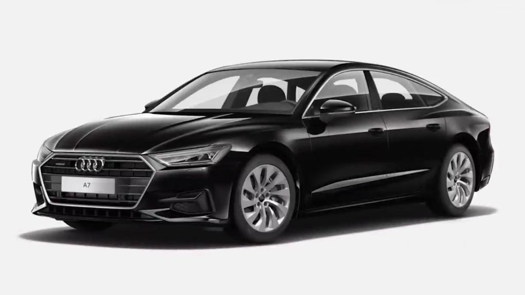 Цветовая гамма Audi A7 черный