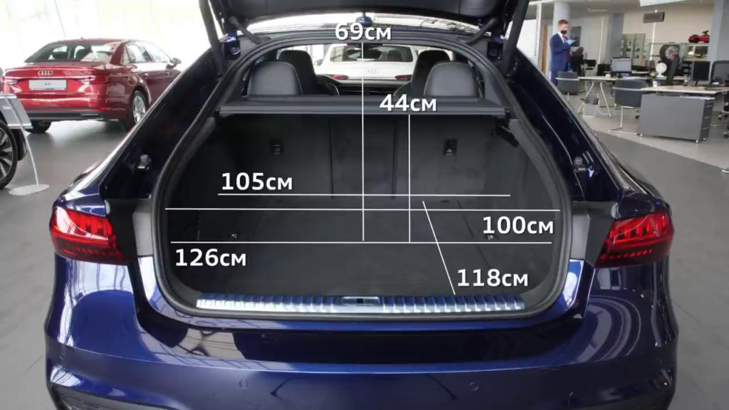 габариты багажного отделения Audi A7