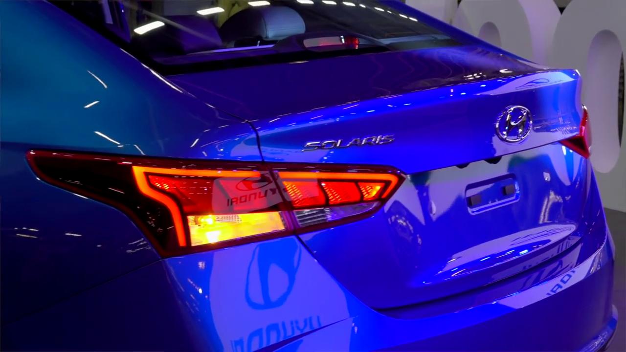 Задние фары нового Hyundai Solaris